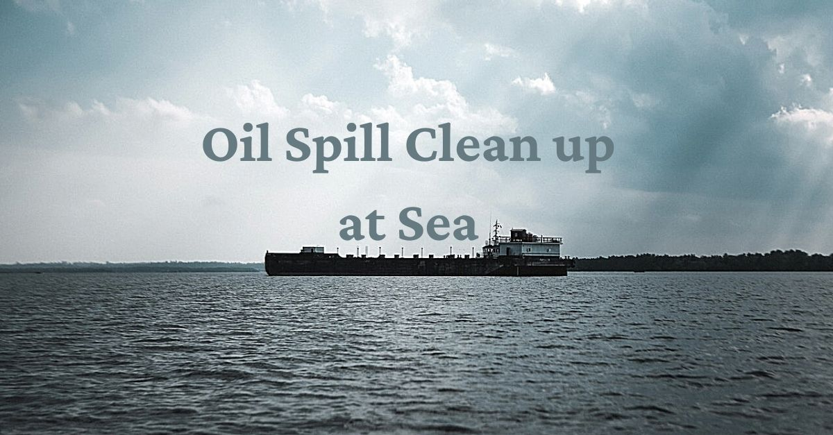 Oil-Spill-Cleanup-At-Sea